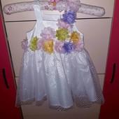 Новое шикарное платьице на малышку 12 мес.