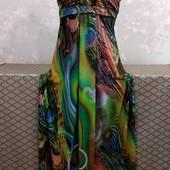 Длиное женское платье, размер с-хс