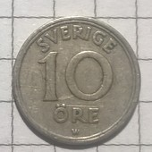 Монета Швеции 10 эре 1920