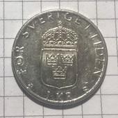 Монета Швеции 1 крона 2000
