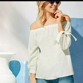 esmara.классная катоновая блуза  кармен размер  евро 44 замеры