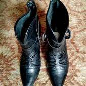 Брендовые демисезонные кожаные ботиночки, Бразилия, размер-38