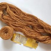 Нитки. Пряжа для вязания. Ковровая нить, Лентварская ковровая фабрика. Лот 160 грамм