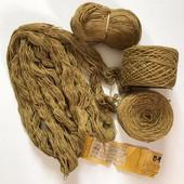 Нитки. Пряжа для вязания. Ковровая нить (полушерстянная), Лентварская ковровая фабрика. 468 грамм