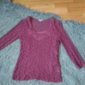 Два лота в одном!! Шикарная гипюровая блузка + майка, размер евро 38-40.Новая