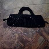 Черный клатч с цепочкой