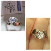 Акция ! Шикарное серебряное кольцо серебро 925пр.+ золото 375 пр. Новое с биркой!По низким ценам