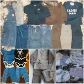 Пакет вещей на мальчика 50+ шт., 62-68+74, 80, б.у. и новые