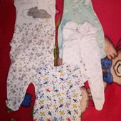 Костюмы, человечки, кофточки, носочки, шапочки 56р