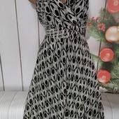 Вау! Обалденное шифоновое платьице размер 46