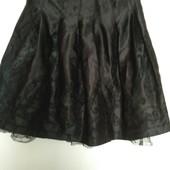 Нарядная юбка с выбитым рисунком