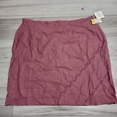 Редкий размер! Фирменная новая льняная юбка р.28-32