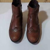 Деми ботинки Нат кожа.
