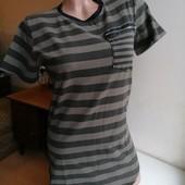 Натуральная эластичная футболка в полоску uniplay италия