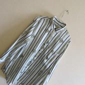 Атласная рубашка Zara (р.L)