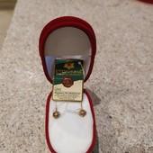 Новые золотые сережки 0.78 грамм - 585 проба