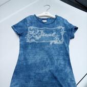 Стоп!! Фирменная удобная яркая натуральная футболка от diesel