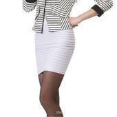 Белая юбка гармошка