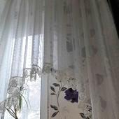 """Красивенная шифоновая """"арка"""" на широкое окно,400*150"""