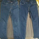 2 пары джинсов на резинке H&M скинни 122-128 рост