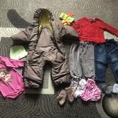 Великий пакет для дівчинки( одяг+іграшки), є і нове;на 3-9міс