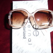 Красивые солнцезащитные очки Eternal. 100% протектор защиты. Оправа в цвете мокко (сгущеное молоко)