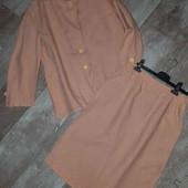 костюм(юбка и пиджак)100% лен(состояние идеальное!!!)