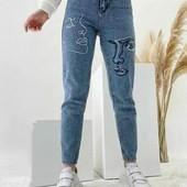 Новинка 2021!Стильные джинсы Момы. Качество отличное.