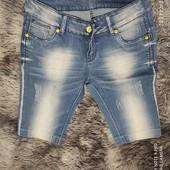Джинсовые шорты, размер с-м, ткань тянется.