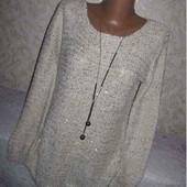 Трикотажный нарядный свитер с пайетками 46-48 р., грудь 53,Atmosphere