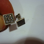 Серебрянные серьги-гвоздики