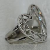 Коктейльное кольцо с камнями Сваровского