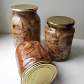 0,5л. Маринованные грибы маслята, уксус или томат на выбор