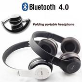 беспроводные наушники Bluetooth + MicroSD + FM радио .цвет случайный