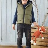 Германия!!! Бомбовая жилетка на флисовом подкладе для мальчика, на весну! 92 рост!