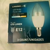 Livarno Германия Набор 3 лампочек с узким цоколем