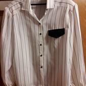 Блуза белая в полоску