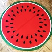 Пляжная подстилка, круглое покрывало-полотенце, диаметр 125 см