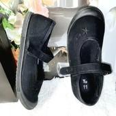 Чёрные тапочки для девочки стелька 18,5 см