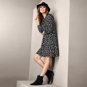 Красивое платье из джерси с ромашковым принтом от Tchibo (германия) размер 52 евро=58-60