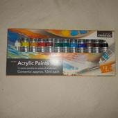 Акриловые краски Crelando 12шт.