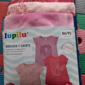 Lupilu комплект 3 футболки 86-92