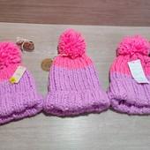 Англия!!! Вязанная яркая шапка для девочки! Размер на выбор: 5-6 лет, 7-10 лет или 11-13 (можно маме
