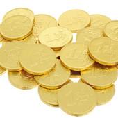 Золотые монеты -доллар (молочный шоколад).В лоте 50 штук.