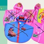 Невероятно красивый дождевик -пончо Винни Пух 2 размера М , l с капюшоном и надувным ободком