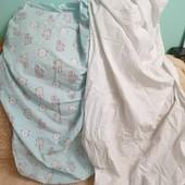 Простыни в детскую кровать на резинке, одна на выбор