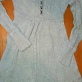 Вязаное платье на 6-7лет ,на рост 116-122