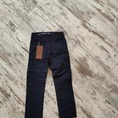 Стильные коттоновые брюки, штаны с утяжкой р12✓✓ 89/66см✓✓