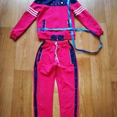 Классный спортивный костюм р.128-140 замеры.