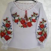 крутезний лот! Шикарна вишиванка для дівчинки.в лоті тільки блуза!